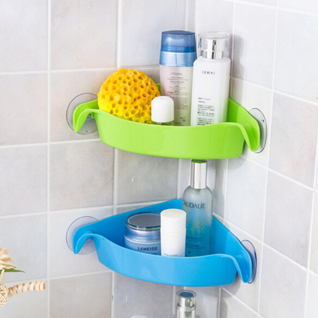 Creative Wall Mounted Sink Corner Kitchen Storage Holder Bathroom ...