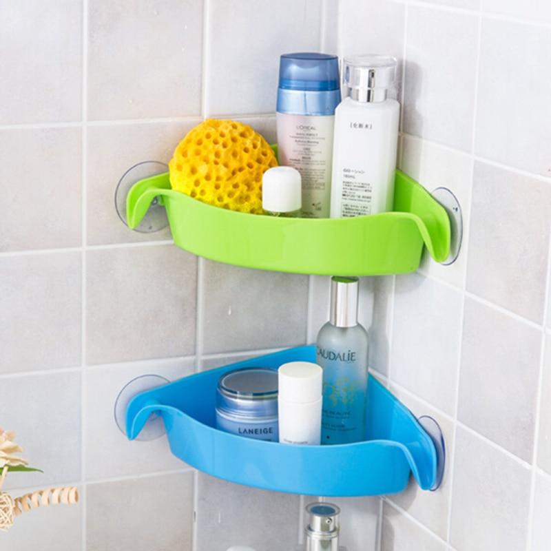 creative wall mounted sink corner kitchen storage holder bathroom holder shelves for bathroom wall shelf shelving 4 colors - Corner Bathroom Shelf