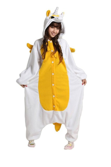 Hot New Unisex Adult Pajamas Cosplay Costume Animal Onesie Sleepwear  Yellow Pink Unicorn Overall Men Women S M L XL Cosplay Best 45ab03f207a8