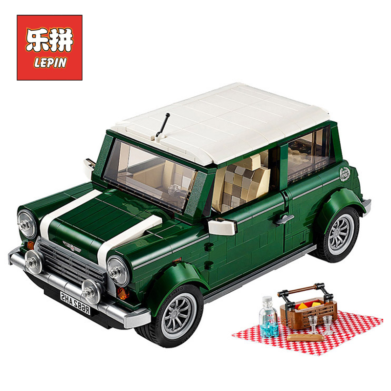 Lepin 21002 Technic Series Creative Car Cooper MK VII Set Model Building Blocks Bricks Children Toys Christmas Gift Lepin lepin 21003 series city car beetle model building blocks blue technic children lepins toys gift clone 10252