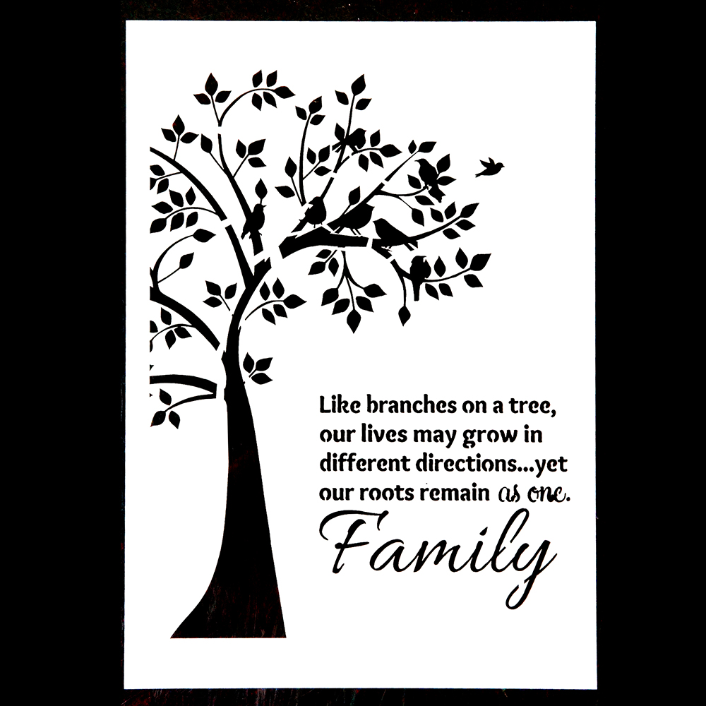 A4 Size DIY Crafts Family Tree Stencils For Scrapbooking