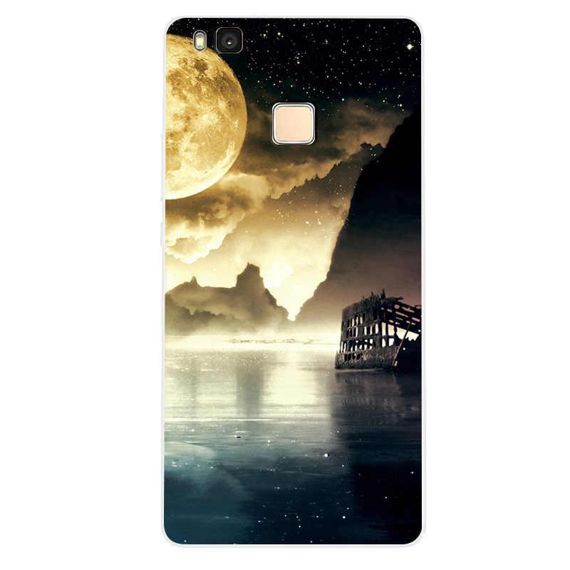 Модный милый чехол для телефона с мультяшными животными для Huawei P9 Lite чехол для телефона для Huawei P9 Lite мягкий силиконовый полное заднее покрытие