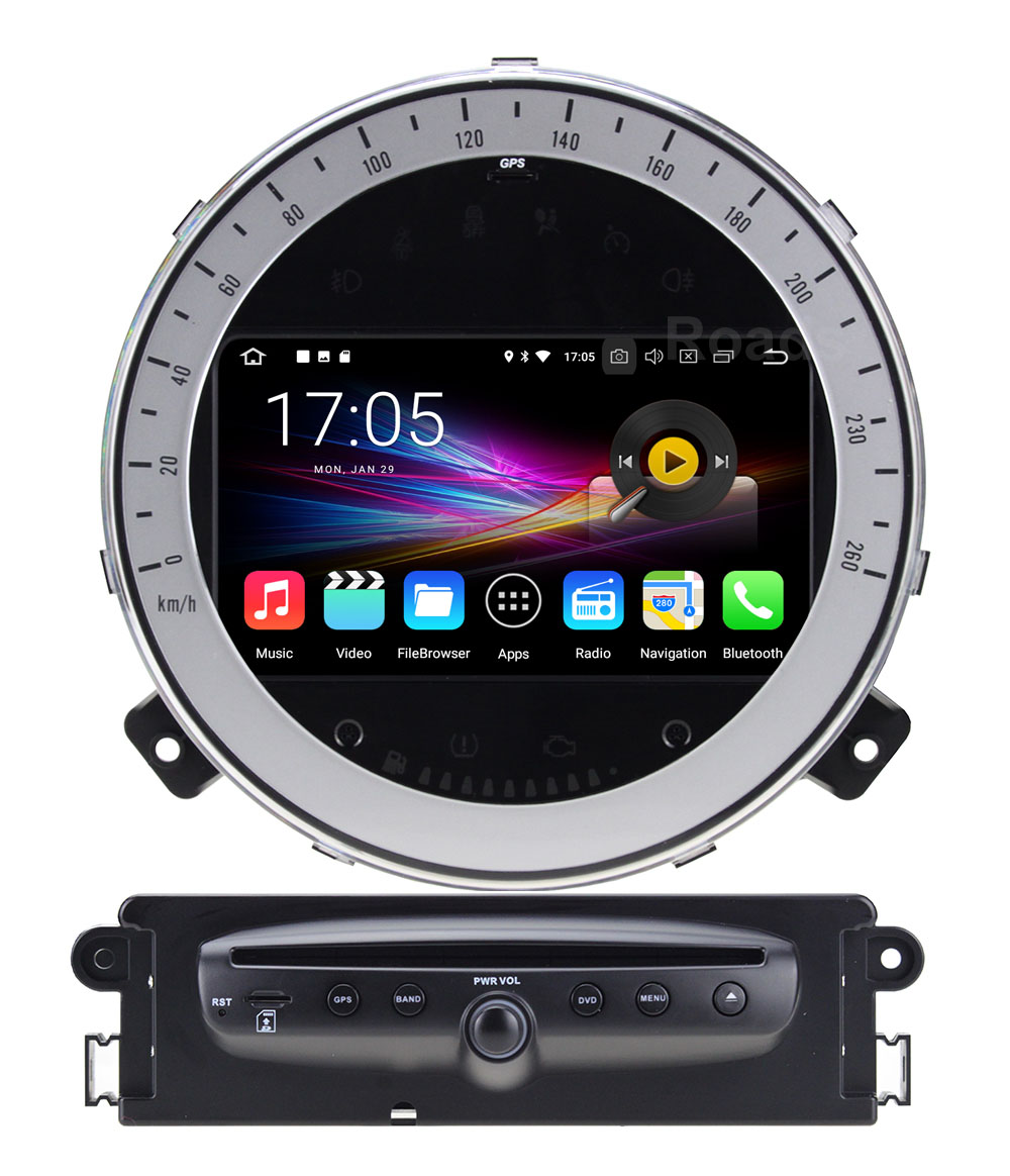 4GB RAM Android 8.0 Car DVD Player Stereo for BMW Mini Cooper countryman 2011 2012 2013 with Radio WiFi BT GPS