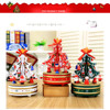 Rotating Music Wooden Christmas Tree Music Box Christmas Gift For Friends Kids Home Indoor Decoration Hot