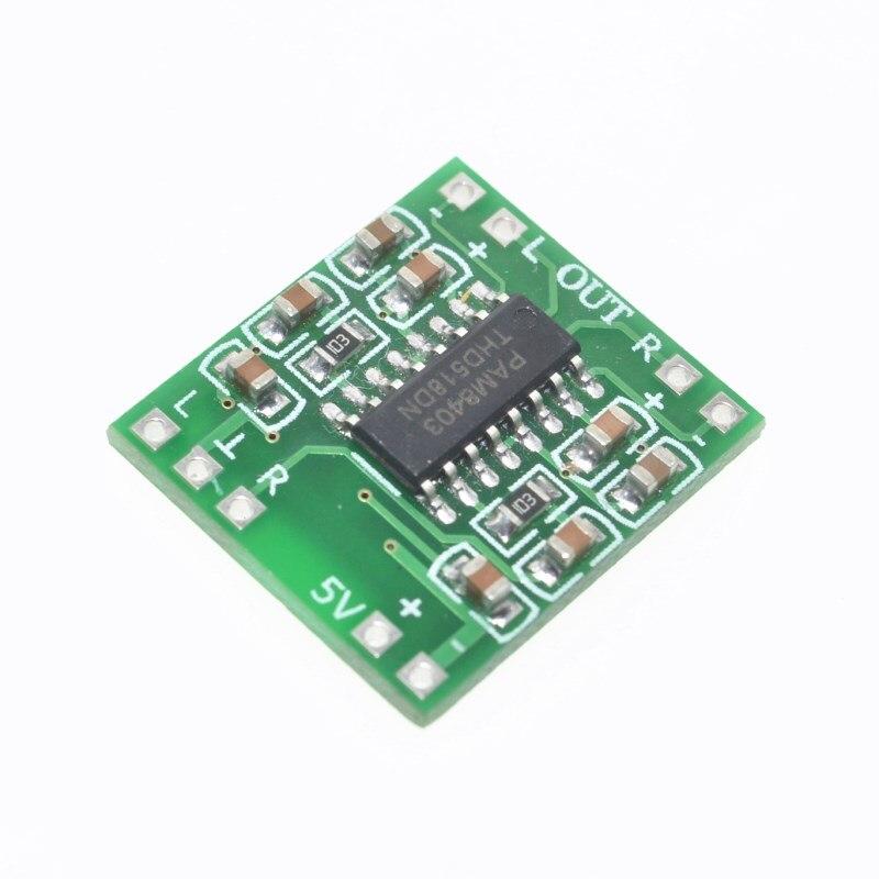 5 pçs/lote PAM8403 Super mini placa amplificador digital classe D bordo amplificador de potência em miniatura 2*3 w alta 2.5-5 v USB
