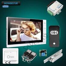 HOMSECUR 9 «проводной Hands-free видео дверь домофон с Strike замком 1C1M