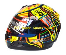 Best Selling Valentino Rossi Motorcycle Full Face Helmet Marushun Capacete Casco