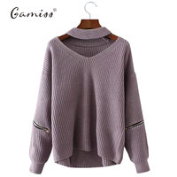 Gamiss Winter Spring Women Sweaters Pullovers Casual Loose Knitted Sweater Women Tricot Pullover Jumpers Oversized Mujer