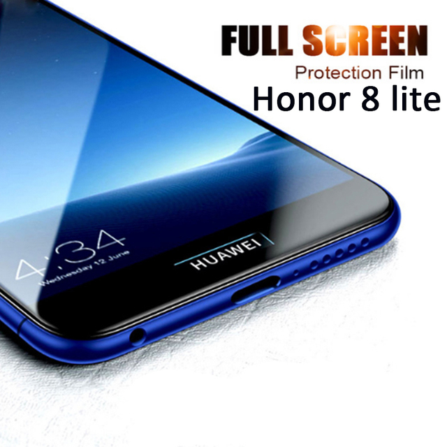 low priced 4ca6e 9ee65 US $1.12 25% OFF|Hot Tempered Glass For Huawei Honor 8 Honor 8 Lite light  8lite Screen Protector Mobile Phone Glass 5.2 Inch Safety Full Covers -in  ...