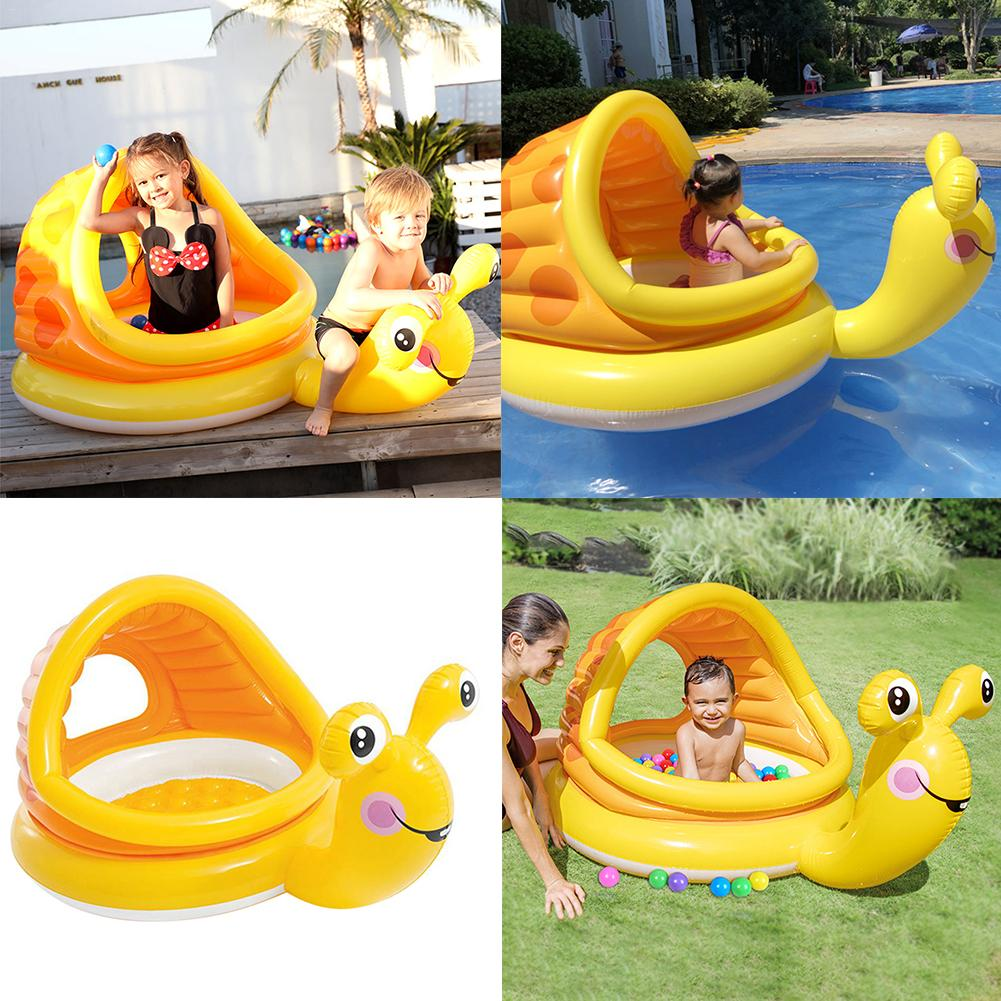Baby Swimming Ring Snail Shaped Baby Swimming Pool Float Cartoon Inflatable Snail Swimming Ring for Kids Toddles