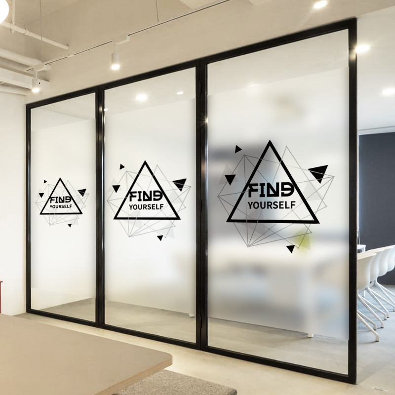 Customized Static Cling Stained Glass Window Film Frosted & Opaque Privacy Office Decor Digital print Removable BLT1020 Plan