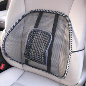 Car Seat Lumbar Support Back Massage Cushion Mesh Relief 40 x 40cm Mesh Fabric Auto Back Support Chair Interior Accessories