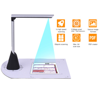 A4 High Speed Document Camera Scanner 5 Mega Pixel HD High Definition OCR Function LED Light