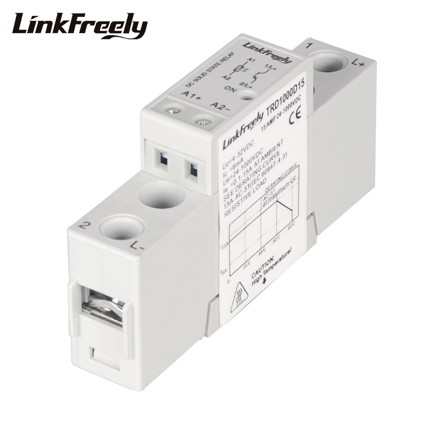 TRD1000D15 15A 1000V DC Solid State Relay 3V 3.3V 5V 12V 24V 32VDC Input Electrical Voltage Trigger SSR Module & Board