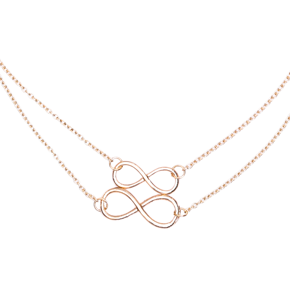 Famshin 2017 new hot gold silver women girl fashion jewelry double famshin 2017 new hot gold silver women girl fashion jewelry double infinity pendant necklace wedding event necklaces in chain necklaces from jewelry aloadofball Image collections