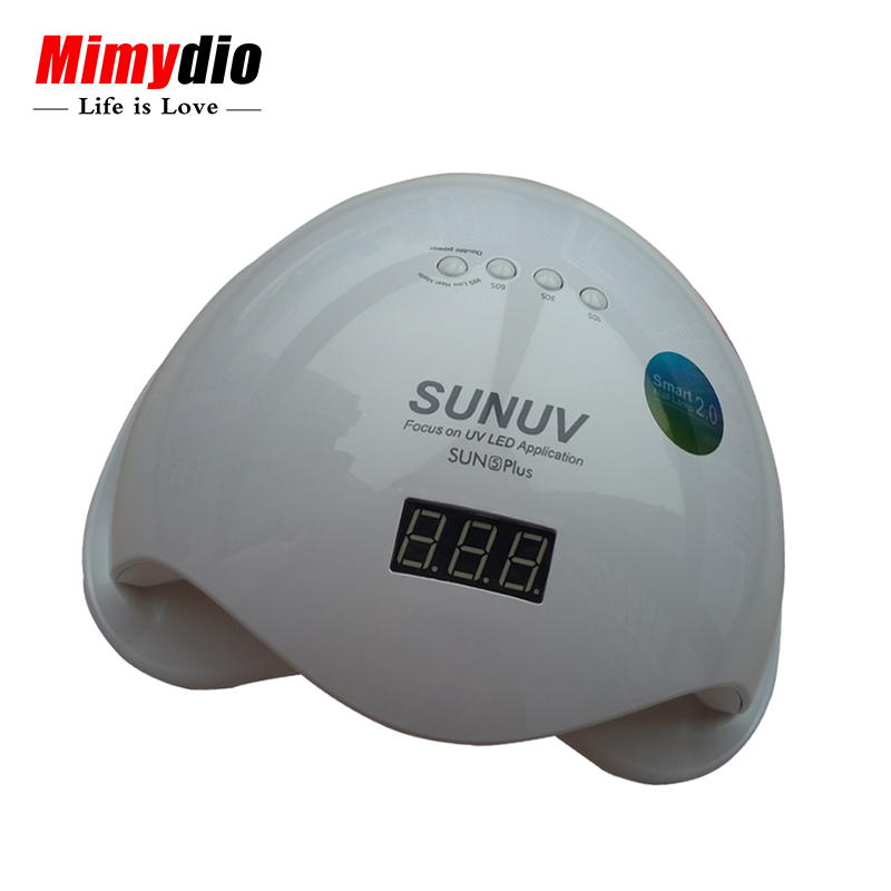 SUN5 Plus 48W 36Leds SUNUV Dual UV LED Nail Lamp Nail Droger Gel Polish Curing Light met Bodem 30 s/60s Timer lcd-scherm