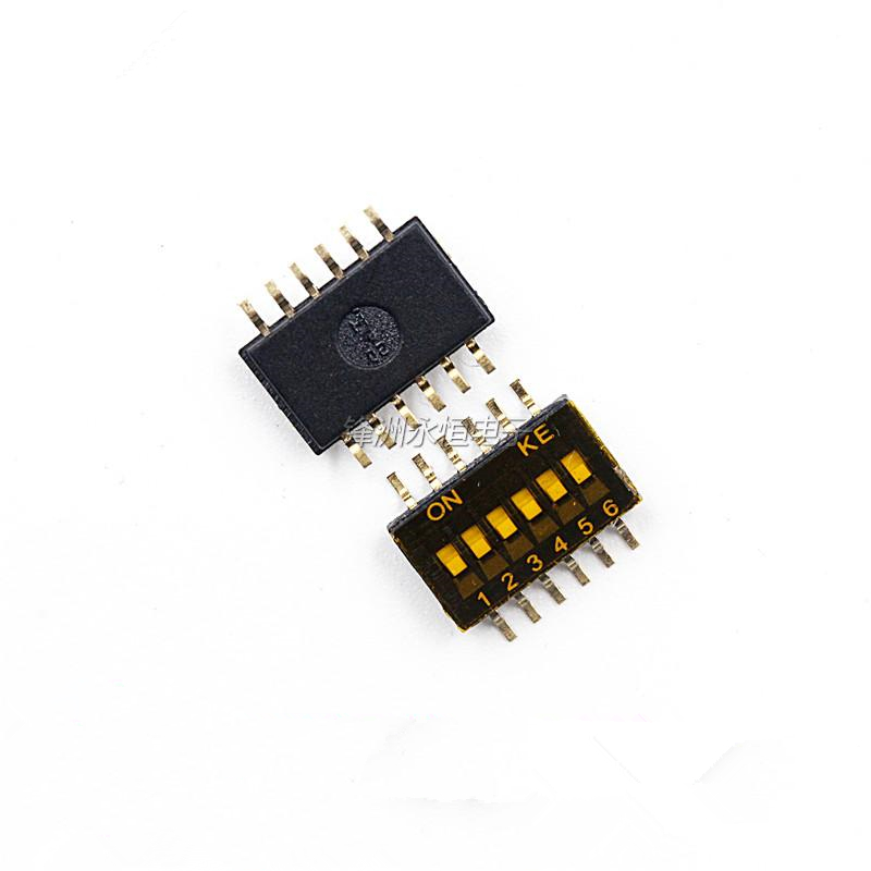 10PCS/LOT SMD 1.27MM 6-bit chip DIP switch toggle switch 1.27-6P DSHP06TSGER
