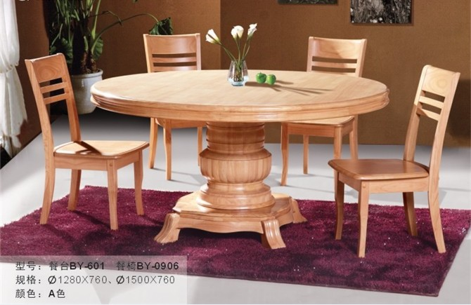 SOLID WOOD DINING ROOM FURNITURE FACTORY WHOLESALE OAK CHAIR AND DESK SETT 601