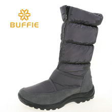 Grey colour high zipper boots fashion shoes rubber outsole white warm fur fabic upper only one pair in size 37 sample selling(China)