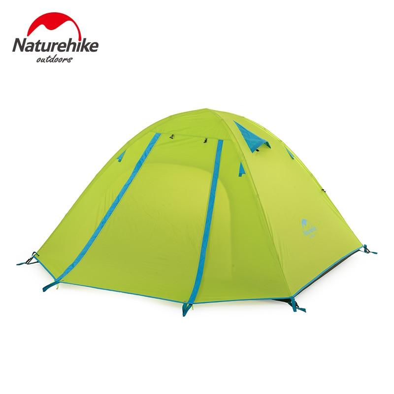 Nature randonnée 2 3 personnes Camping tente pour loisirs de plein air 3 saison Double couche étanche touristique tente 4 personnes voyage tentes