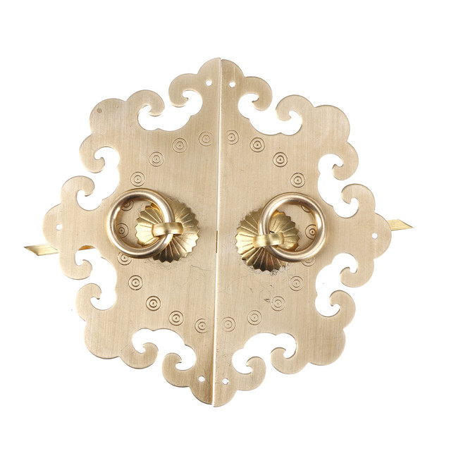 Merveilleux Pull Handle Knobs Brass Hardware Chinese Cabinet Face Plate Set Door  Cupboard For Furniture Door Vintage