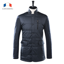 Langmeng 2015 новый мужчины сплайсинга зимняя куртка супер теплый тонкий куртка пальто стильный бренд мужской пальто стоять воротник мужской пиджак пальто
