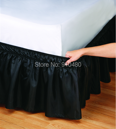 hot sale hotel bed skirt wrap around elastic ruffles bed skirt for