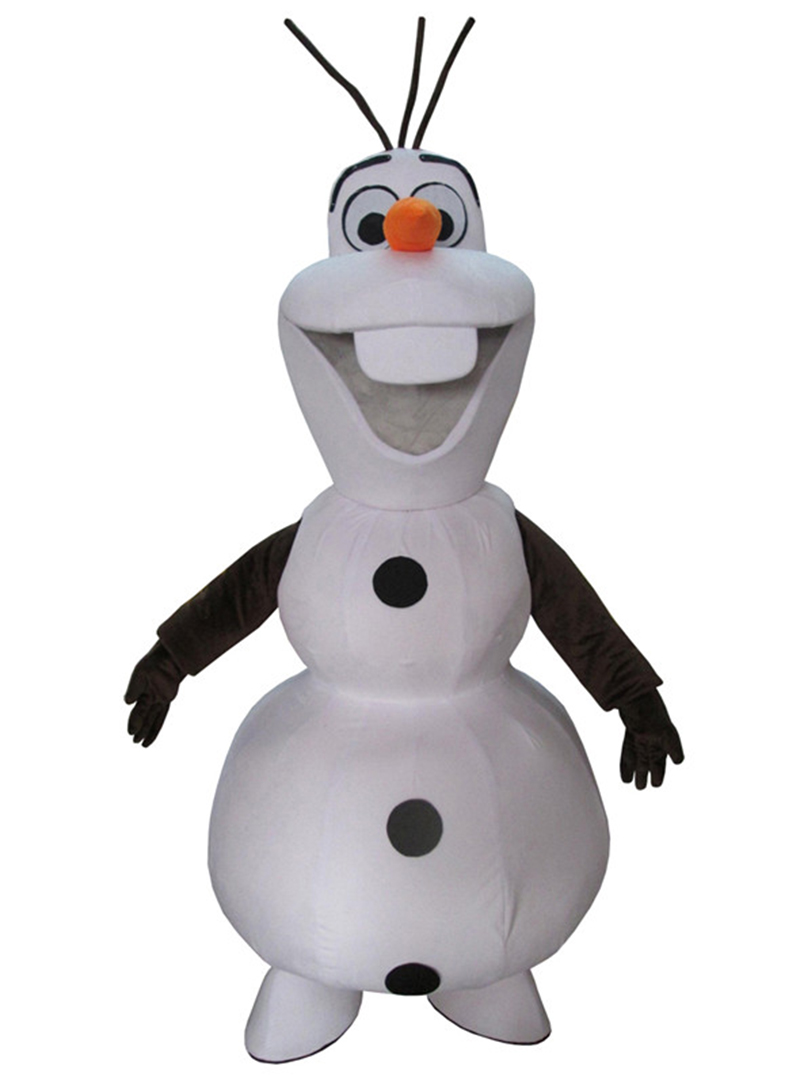 Halloween Snowman Olaf Mascot Costume Top Quality Adult Cartoon Snowman Olaf Christmas Party Mascot Costumes Free