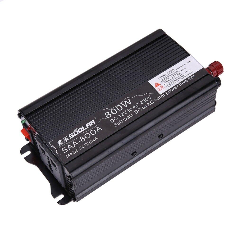 Aoshike 800W Solar Power Car Inverter board 12V DC To 110V AC Modified Sine Wave Inverter Converter