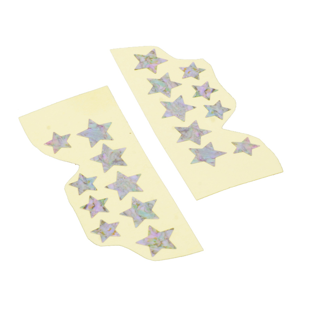 Thin Star Shaped Guitar Stickers Set