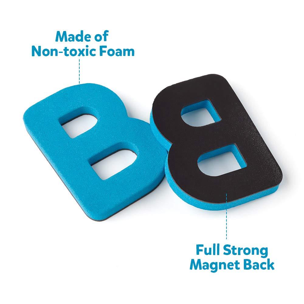 D-fantix lettres magnétiques 208 pièces majuscules minuscules mousse Alphabet ABC aimants pour réfrigérateur réfrigérateur jouets éducatifs ensemble - 3