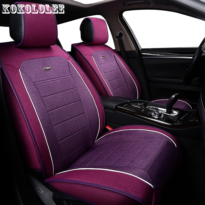 KOKOLOLEE Universal auto linen Car seat cover For Volkswagen vw passat polo golf tiguan jetta automobiles accessories seat cover car seat cushion three piece for volkswagen passat b5 b6 b7 polo 4 5 6 7 golf tiguan jetta touareg beetle gran auto accessories