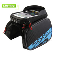LIFETONE Bicycle Frame Front Head Top Tube Waterproof Bike Bag Double IPouch Cycling For 6 0