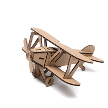 3d Puzzle Airplane Biplane Craft Paper Model Kid DIY Vintage Classic Aircraft Educational Toy Jigsaw Children