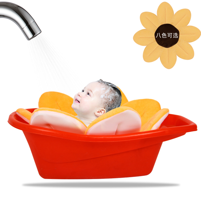Baby Blooming Bath Mat Bathtub Foldable Aid Soft Liner Sink Shower For  Babies Infant Flower Pattern Cushion Bath Rug Lotus In Bath Brushes From  Mother ...