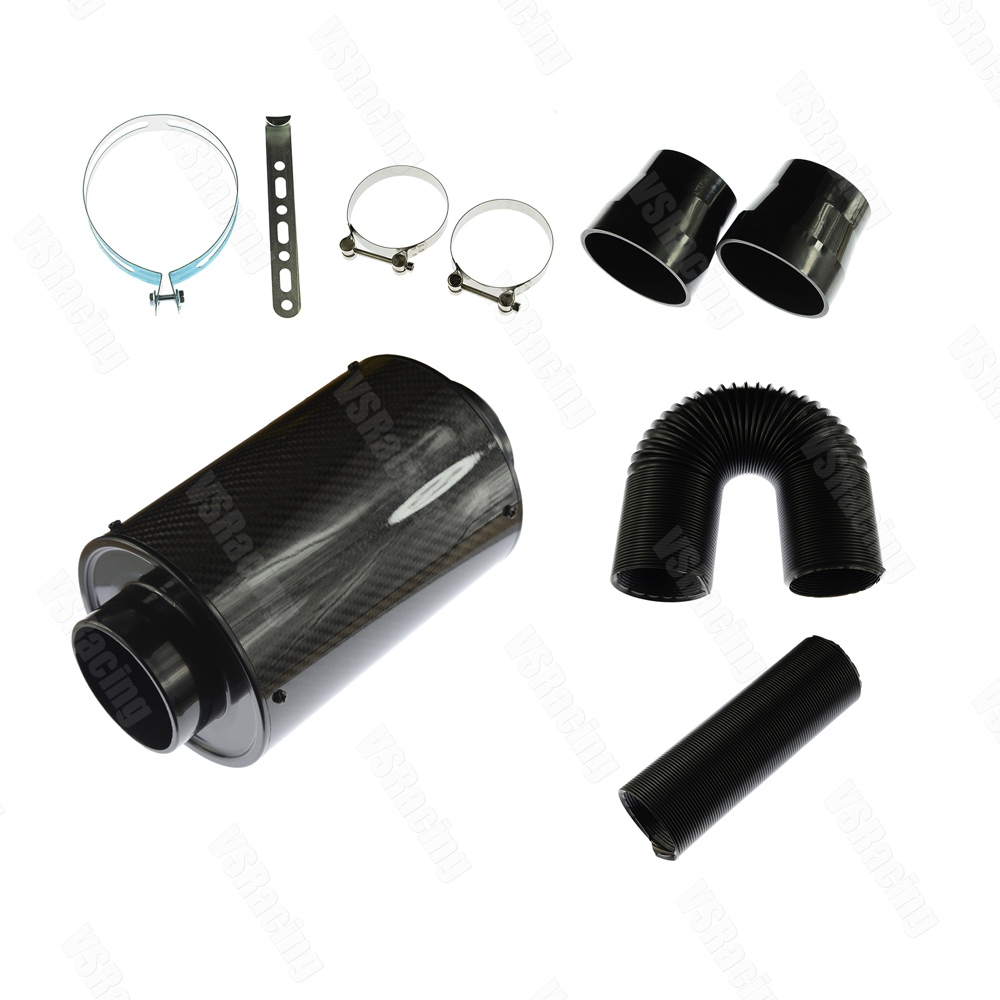 3/'/' Carbon Fiber style Aluminum Pipe Car Turbo Piping Cold Intake System Filter