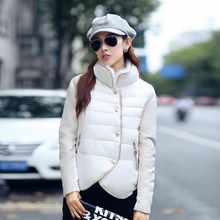 Womens Han Edition Collars Splicing Thin and Short Winter Fashion Collar of Cultivate One s Morality