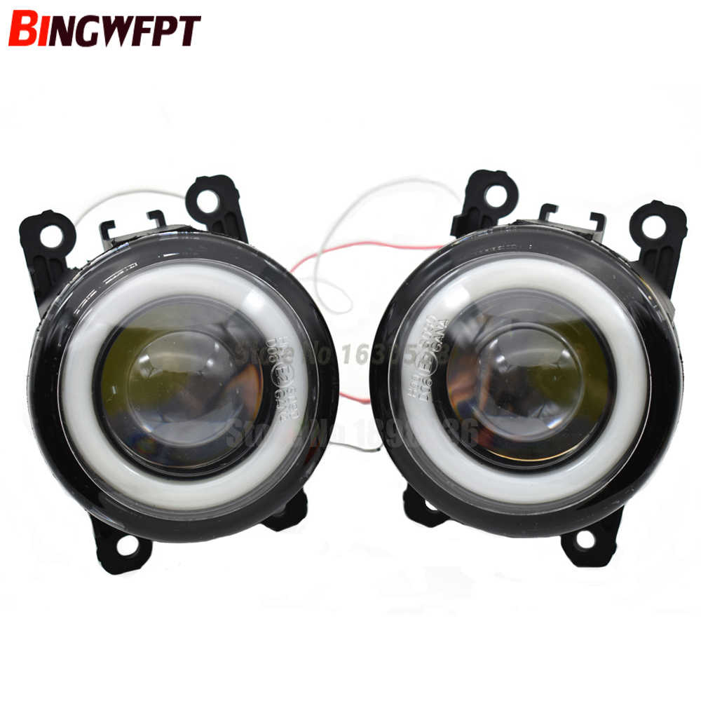 2x Angel Eyes Fog LED lamp Fog Light + Angel Eye DRL 12V For Ford Grand C-Max MPV 2010 -2015 For Ford Focus MK2 MK3 2004-2015
