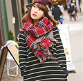 Free Shipping 2016 New Arrival Luxury Brand Scarf Men Women Plaid Beautiful Thicker Fationable Red Blue Beige Pashmina FA2003