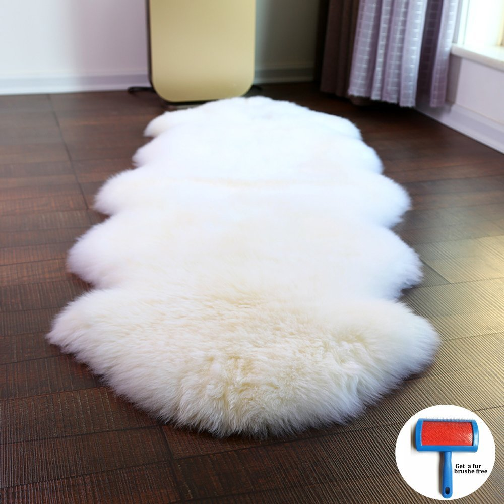 Super Luxury Keep Warm Thicken Soft Shaggy 100 Real Sheepskin Wool Area Rugs and Carpet for