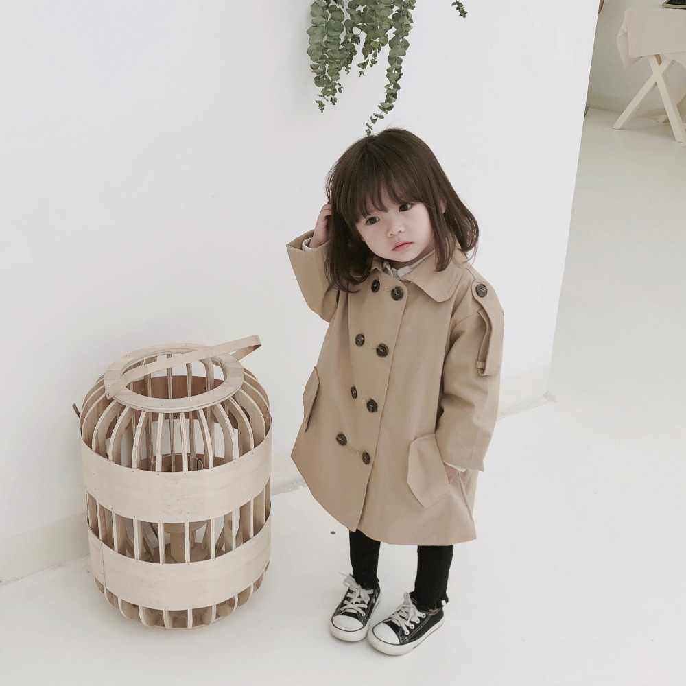MILANCEl Frühling Jacken für Mädchen Mode Kinder Mädchen Jacke Doppel Brust Windjacke für Mädchen Kinder Jacke Mädchen Graben Mantel