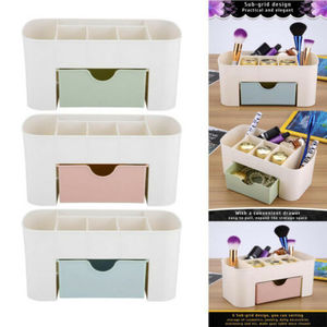 Image 3 - 2019 New Brand Fashion Table Organiser Make up Holder Jewelry Storage Box Cosmetic Desk Drawer Case