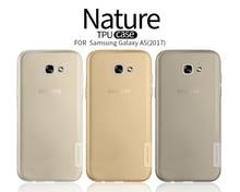 Для galaxy a5 2017 Nillkin Природа Ясно Мягкий Силиконовый ТПУ Protector Case Cover Для Samsung galaxy a5 2017 5.2 дюймов