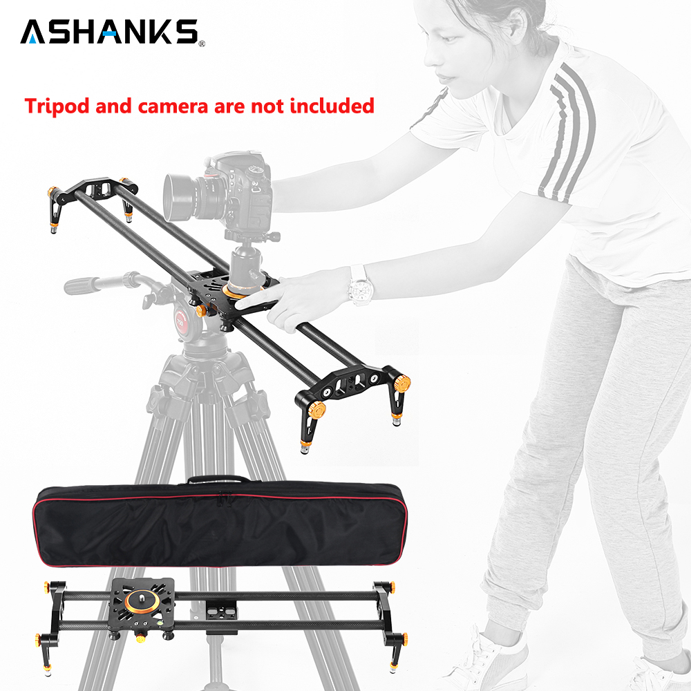 Ashanks 60cm 6 Bearings Carbon Fiber DSLR Camera DV Slider Track Video Stabilizer Rail Track Slider For DSLR or Camcorder ashanks 80cm 6 bearings carbon fiber slider dslr camera dv track slide
