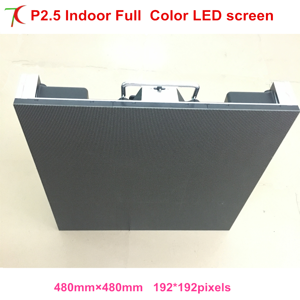 480*480mm 16scan P2.5 indoor high refersh die-casting aluminum cabinet for hd real led display,2500cd