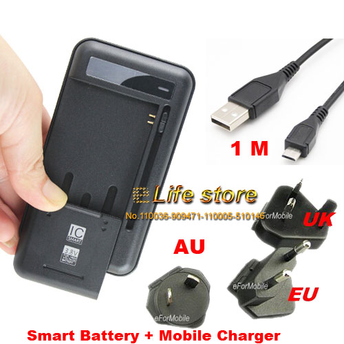 EU/UK/AU USB Desktop Dock Cradle Battery Mobile Phone Charger+USB Cable For Samsung Galaxy J3 (2017),Acer Liquid Z6 Plus ...