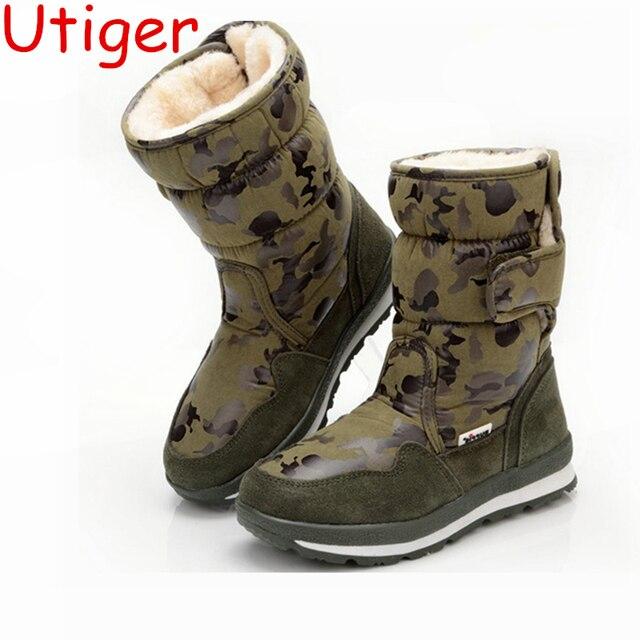 646804553 Children Boy Snow Boot Kids girl Snow Boots Winter Boys Girls Shoes ...