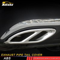 ANTEKE Car Accessories Exhaust Pipe Tail Cover Trim For Mercedes Benz E Class W213 W205 GLC C A Class A180 A200 W176 2016 2017