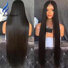 ALICROWN Silk Top Full Lace Wigs Bleached Knot Straight Lace Front Wig Brazilian Virgin Hair Silk Base Full Lace Human Hair Wigs