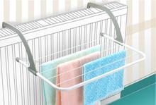 1PC Folding Metal Towel Storage Rack Cupboard Cabinet Bathroom Organizer Multi-purpose Clothes Drying OK 0820